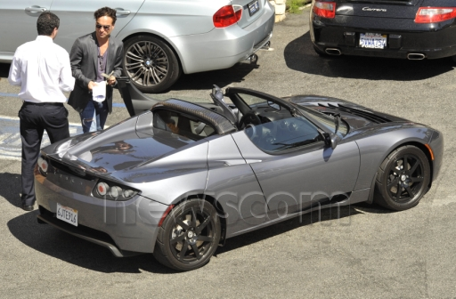 photo of Johnny Galecki  - car