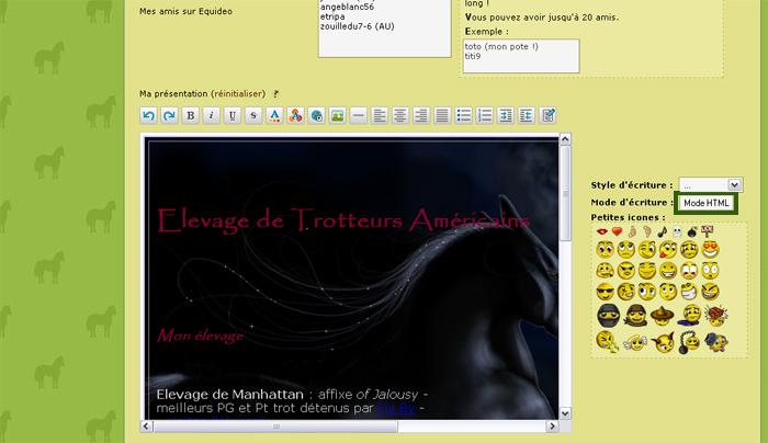 fiche html equideow