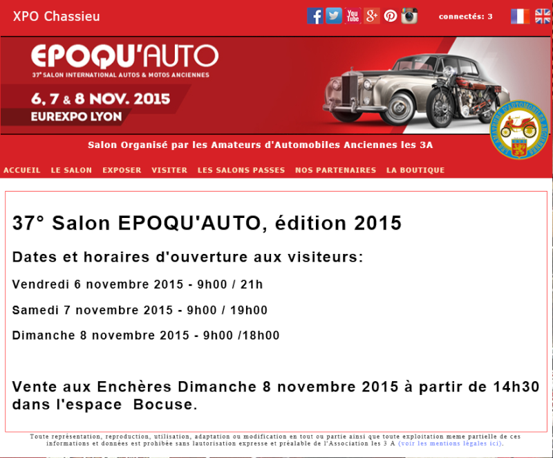 Billets tarif rduit salon epoqu 39 auto 2015 deltalain for Salon epoqu auto