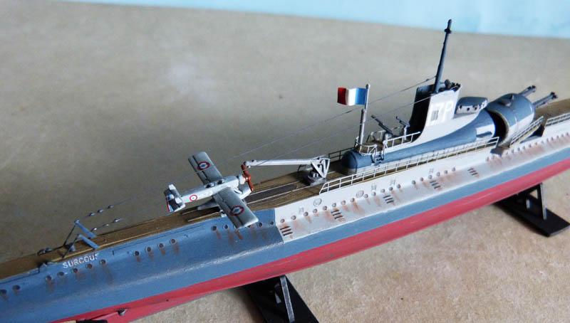 ClipXaab  Maquette du sous marin surcouf échelle 1400