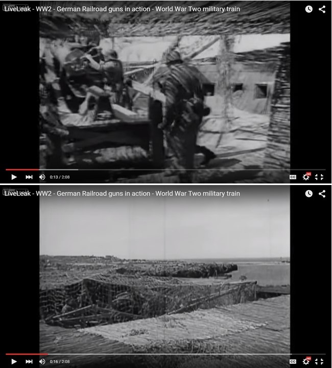 German coastal guns in a WW2 footage – Near Cherbourg? - Axis