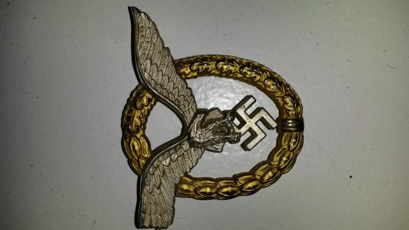LW badge pilot observer Assman - Wehrmacht-Awards com