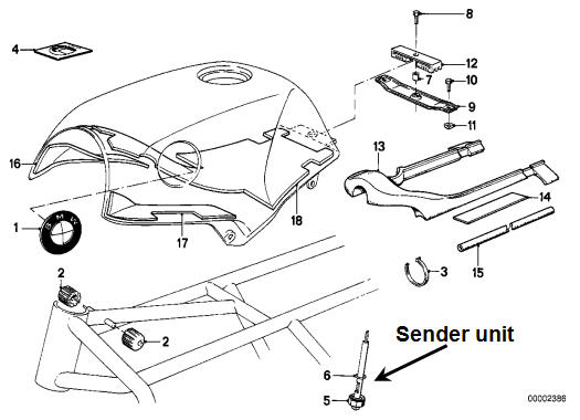 different fuel sender units for the k100