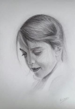 dessin portrait fille