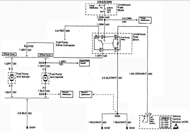 gmc c1500 1999 5l alimentation de pompe gas. Black Bedroom Furniture Sets. Home Design Ideas