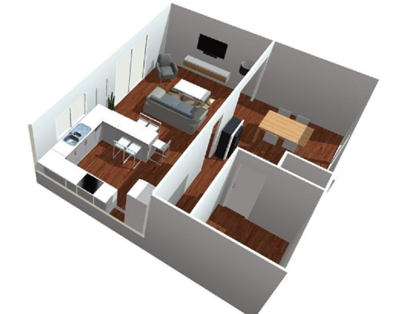 cuisine sejour meme piece finest salon et chambre dans la mme pice with cuisine sejour meme. Black Bedroom Furniture Sets. Home Design Ideas
