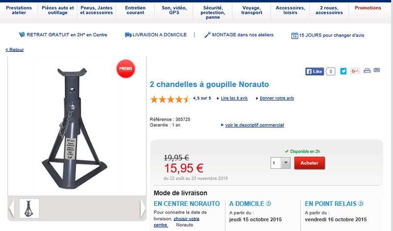 en promo 2 chandelles goupille chez norauto. Black Bedroom Furniture Sets. Home Design Ideas