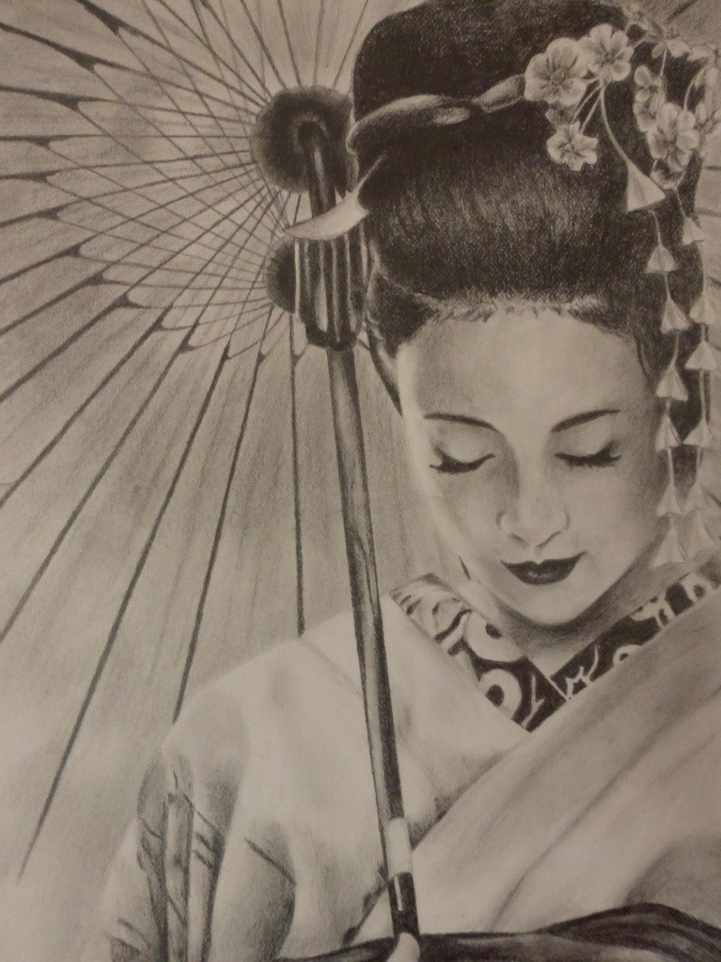 Dessin geisha