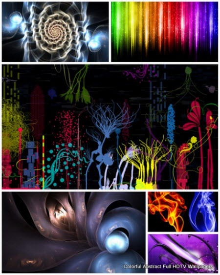 30 Colorful Abstract Full HDTV Wallpapers