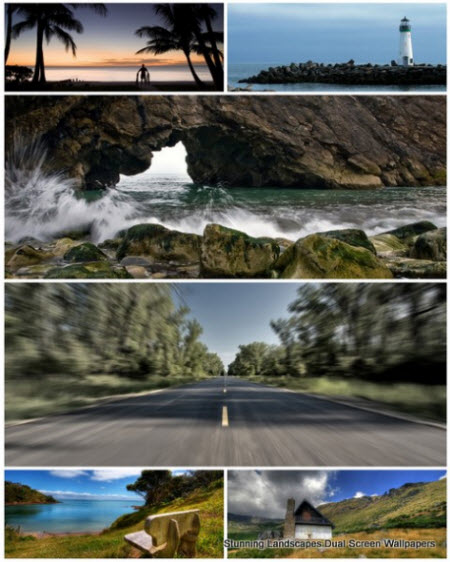 50 Stunning Landscapes Dual Screen Wallpapers