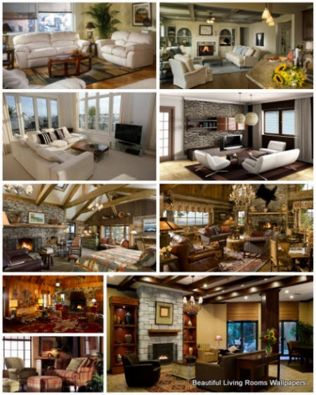 40 Beautiful Living Rooms Wallpapers