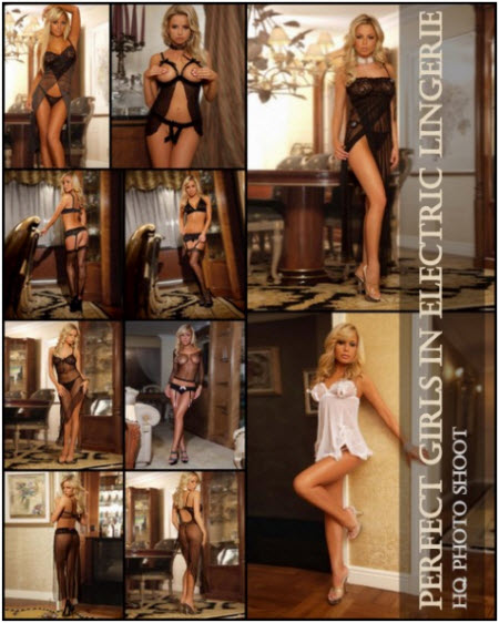 Perfect Girls in Electric Lingerie HQ Photo Shoot