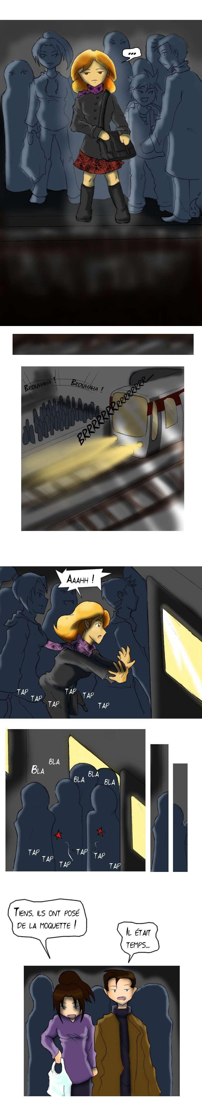 Triste mésavanture arrivée a Ediel dans le métro de lyon