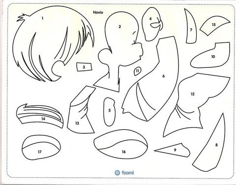 Moldes de preciosos momentos en foami de niños - Imagui
