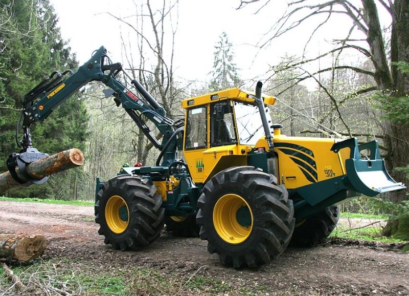 tracteur forestier fortec