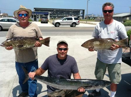 Topsail fishing report 6 1 2011 charter fishing atlantic for Atlantic beach fishing report