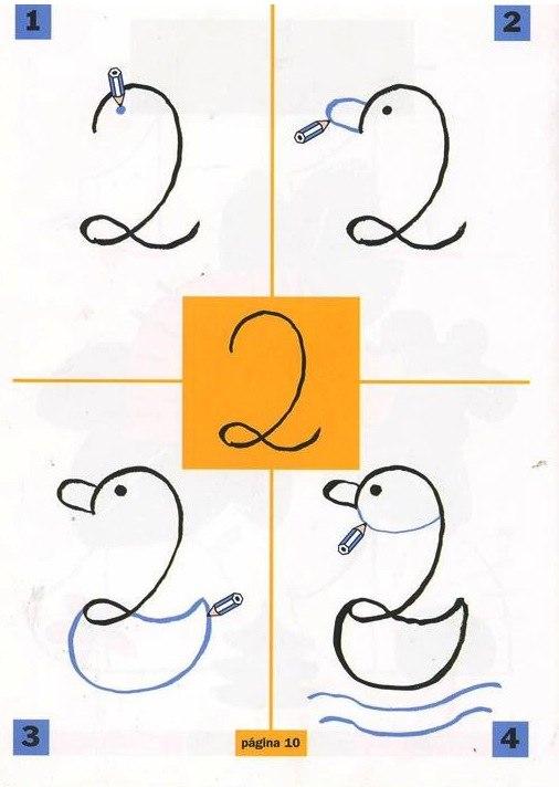 Как сделать из цифры рисунок