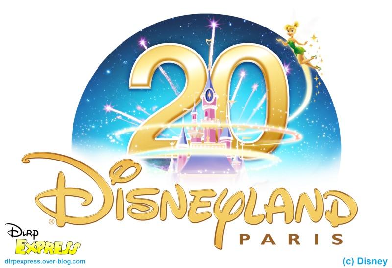 Logos Du 20ème Anniversaire De Disneyland Paris Dlrp Express