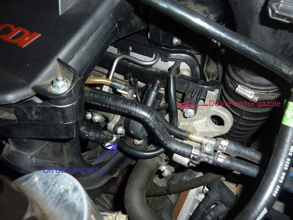 Debrancher Debimetre Mercedes C Cdi