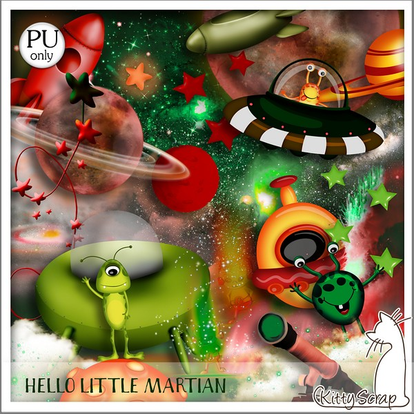 Hello little martian de kittyscrap ks_hel10