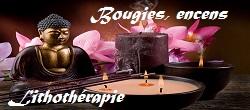 Bougies, encens,  lithothérapie