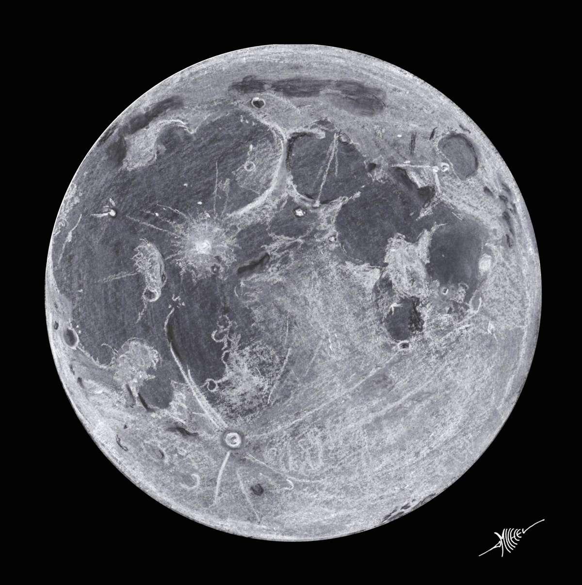 Pleine lune au p rig e - Dessin de lune ...