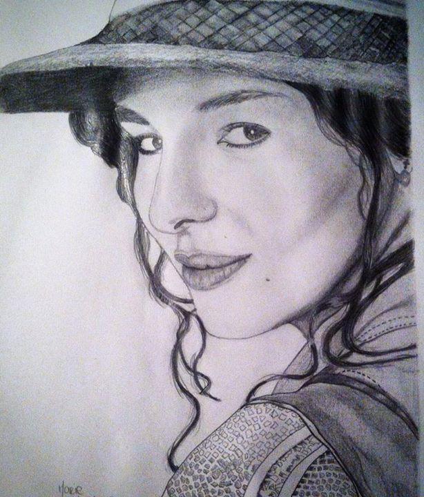 dessin Adèle blanc sec