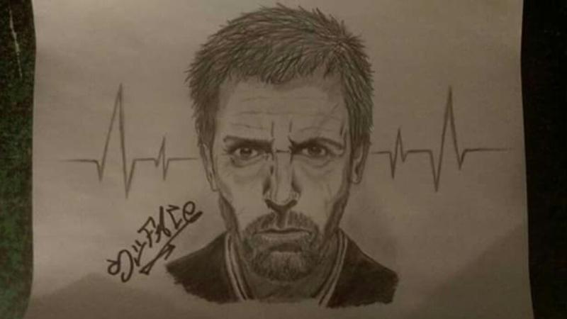 dessin dr house
