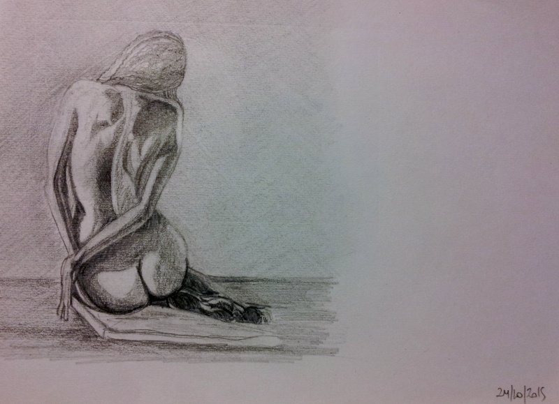 dessin pose dos
