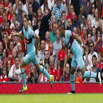 اهداف مباراة وست هام 3 x ليفربول 0