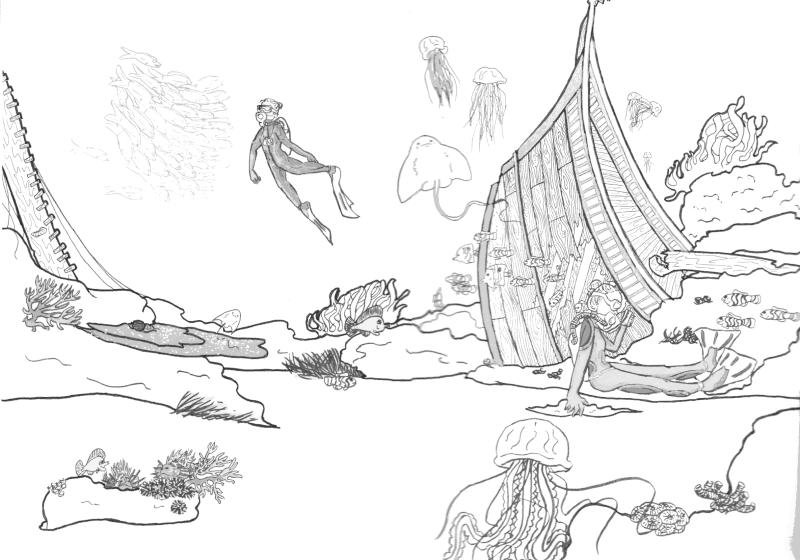 dessin océan