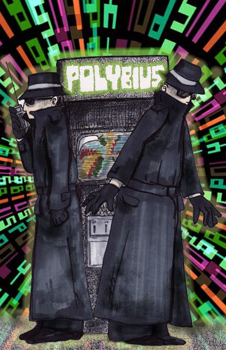 Ilustración de los hombres de negro con una maquina de polybius,El misterio de Polybius, mito y realidad,mito,leyenda,polybius,tempest,berzerk,atari,mitos y leyendas,mitos y leyendas en los videojuegos,terror,mitos de videojuegos,leyendas urbanas en los videojuegos,miedo,halloween,especial de halloween,dia de muertos,mitos de atari,leyendas urbanas,historias de terror de videojuegos,creepypasta,creepypastas,creepypastas de videojuegos,creepy,pasta,sustos,origen,origen de polybius,polybius el arcade de la muerte,arcade,juegos,videojuegos,gamer,friki,geek,arcade,maquinita,maquinitas,maquina recreativa,