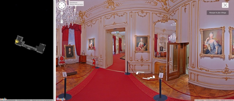 visite virtuelle du ch teau de sch nbrunn avec google art project. Black Bedroom Furniture Sets. Home Design Ideas