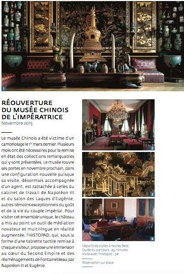 cambriolage dans les salons chinois du ch teau de fontainebleau. Black Bedroom Furniture Sets. Home Design Ideas