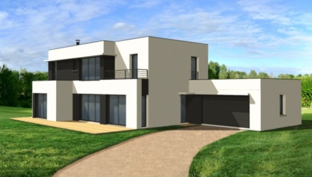 Apprenti construire une maison moderne et ou semi contemporaine for Image maison contemporaine