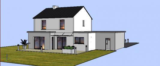Apprenti construire une maison moderne et ou semi contemporaine - Maison semi contemporaine ...