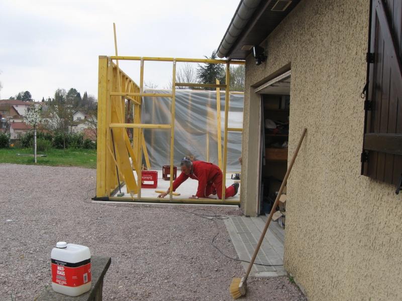 Construction d 39 un garage ossature bois for Garage a poser