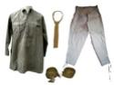 effets divers d'habillement de l armée francaise ( chemise , cravate , bande molletières etc ...)