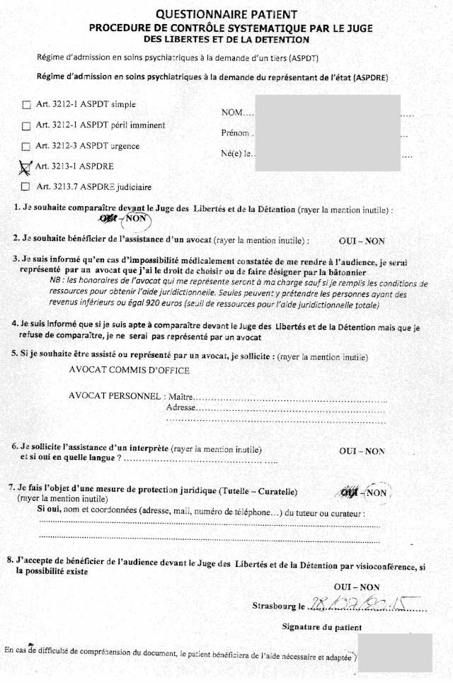 formulaire HUS