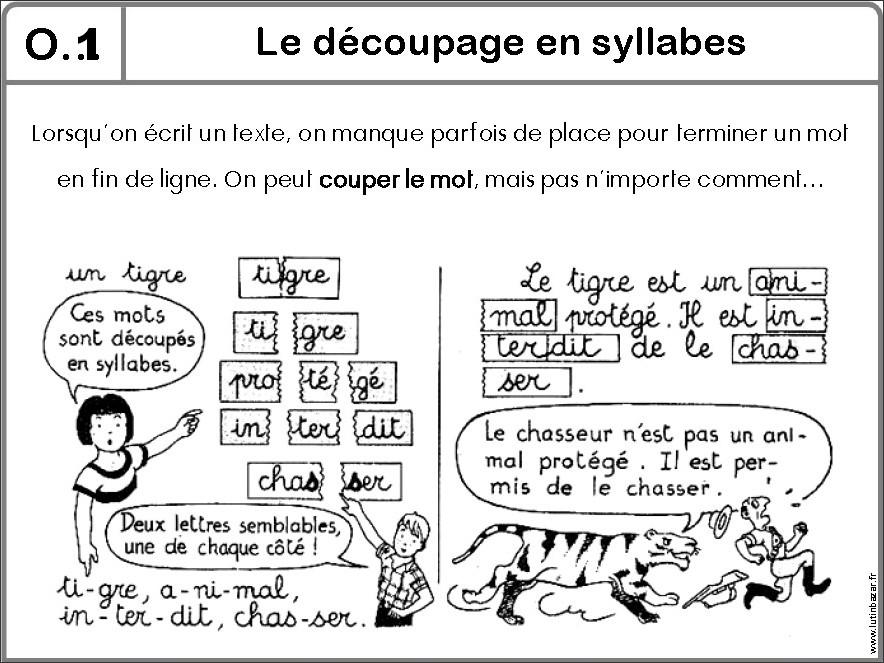 O1 le d coupage en syllabes - Couper les mots en syllabes ...