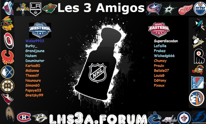 Ligue de hockey simulé les 3 amigos