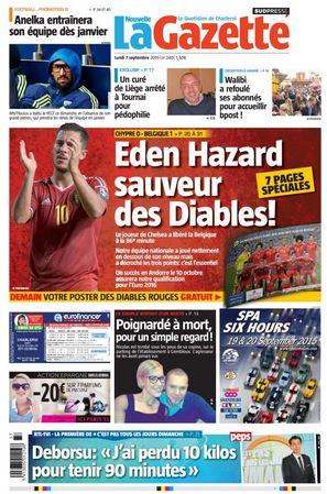 La nouvelle gazette du 07-09-2015 Belgique