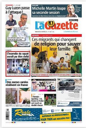 La nouvelle gazette du 09-09-2015 Belgique