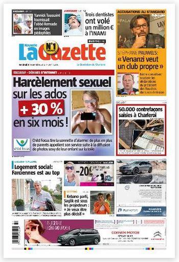 La nouvelle gazette du 11-09-2015 Belgique