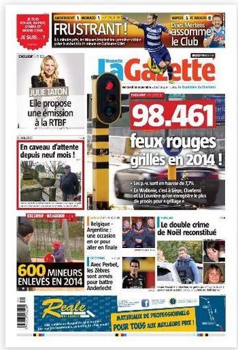 La nouvelle gazette du 18-09-2015 Belgique