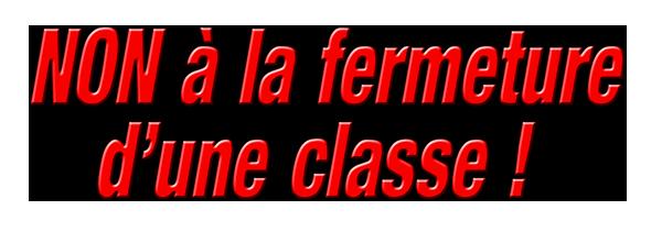 École élémentaire Bartholdi 68400 : NON à la fermeture d'une classe