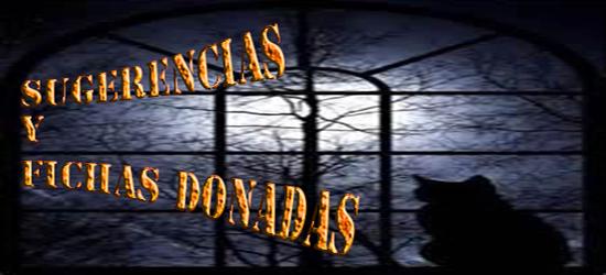 SUGERENCIAS Y FICHAS DONADAS
