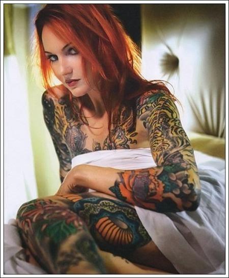 Para gadis seksi dengan tatto full body for Full body tattoo women