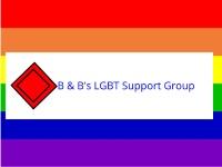 B & B's LGBT Support Forum
